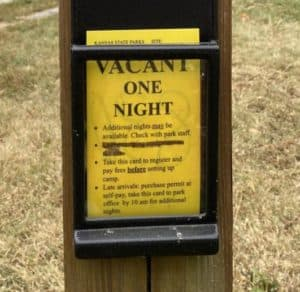 Vacant for one night