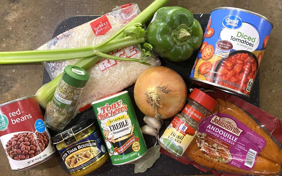 Ingredients for Instant Pot Jambalaya