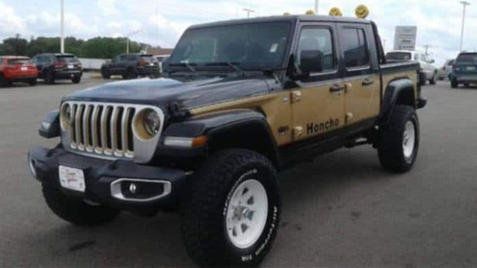 A 2020 Jeep Gladiator was customized in honor of the original Jeep Gladiator.
