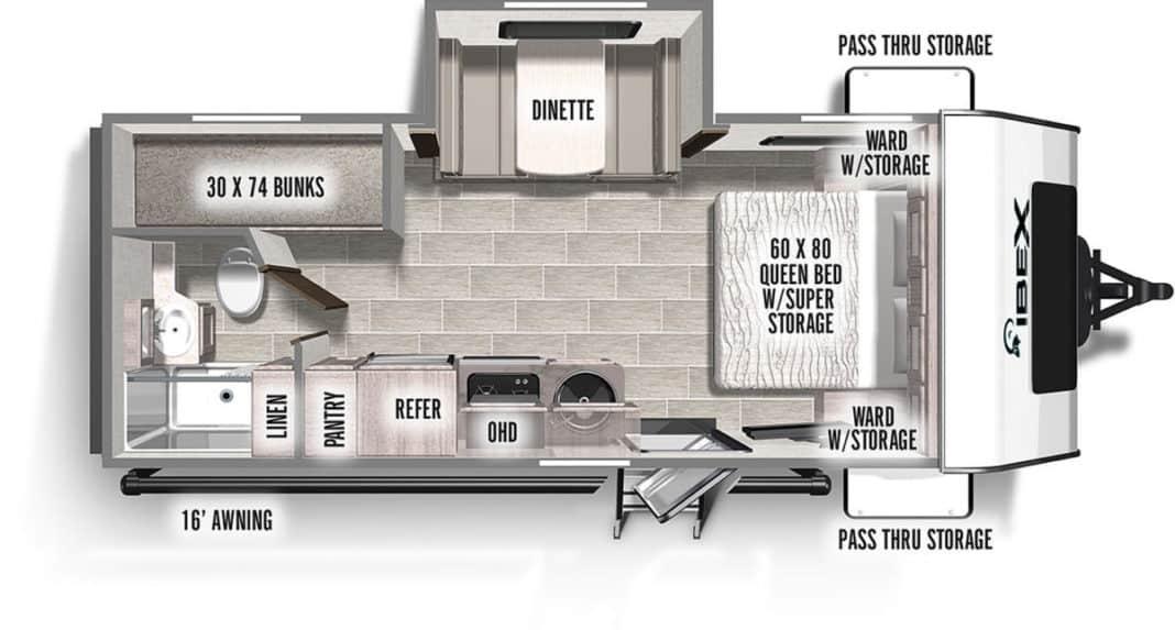IBEX 20BHS floorplan