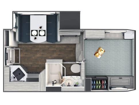Lance 975 truck camper floor plan
