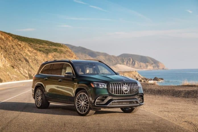 The 2021 Mercedes-AMG GLS 63 has a 7,500 pound towing capacity.