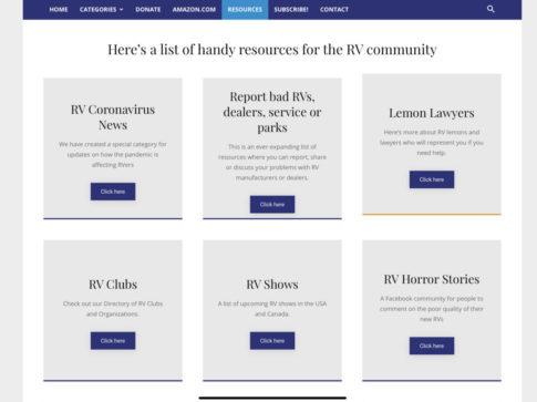 RVtravel resource list