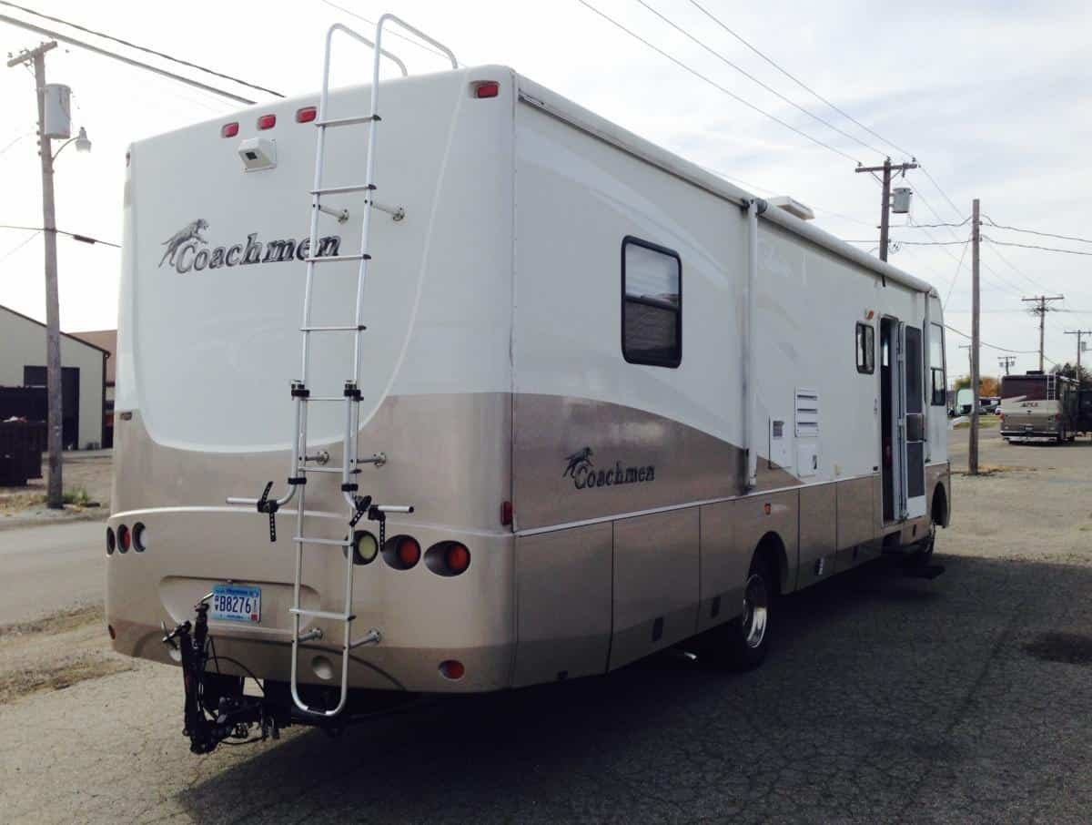 Rear view before painting Coachman Aurora