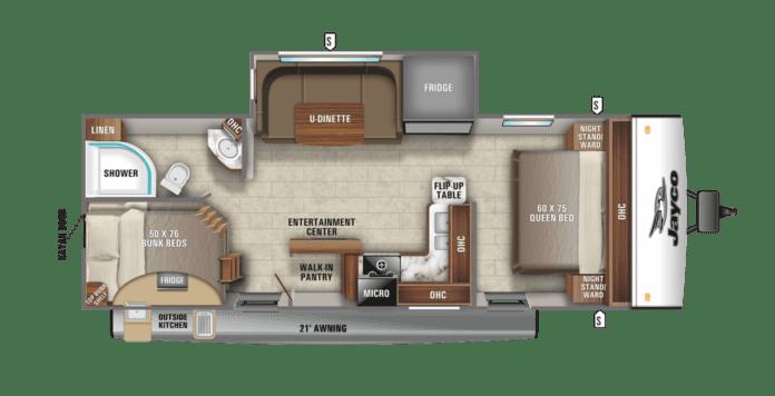 Jayco Jay Feather 24BH floor plan