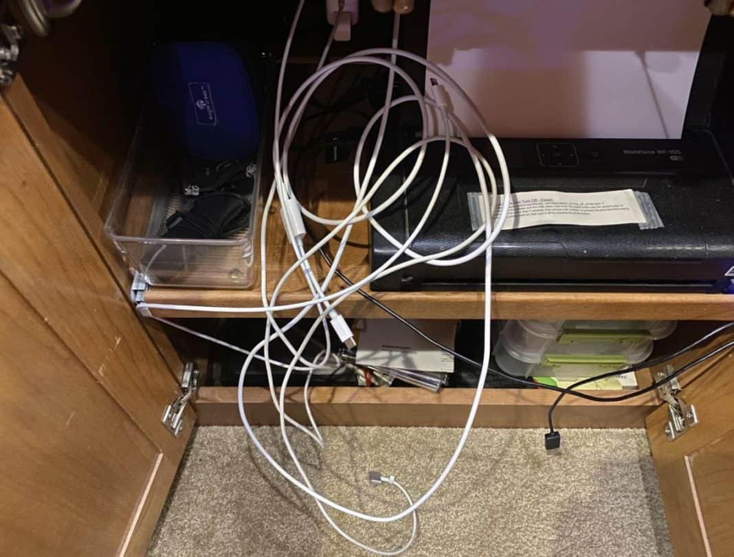 Tangled charging wires