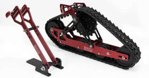 Envo's electric snow bike kit