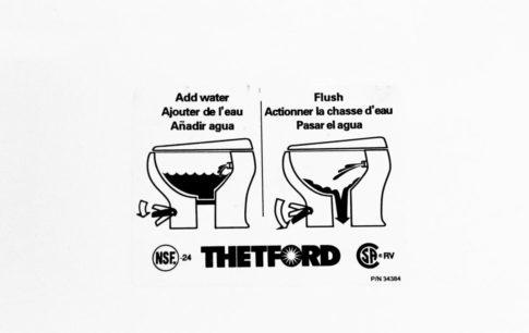 Thetford toilet instruction