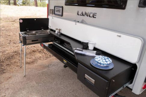 Lance 2075 outdoor kitchen