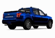 A rendering of the 2022 Ford Maverick or whatver the carmaker's new compact pickup truck will be called.