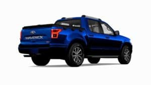 A rendering of the 2022 Ford Maverick or whatever the carmaker's new compact pickup truck will be called.