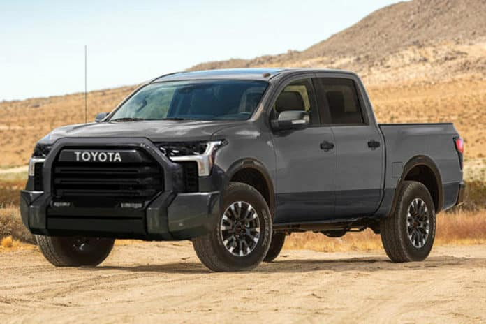 The new bold look of the 2022 Tundra.