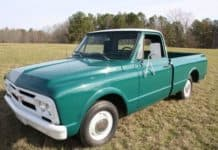 One of three 1967 GMC pickup trucks owned by Elvis Presley will he auctioned Feb. 27.