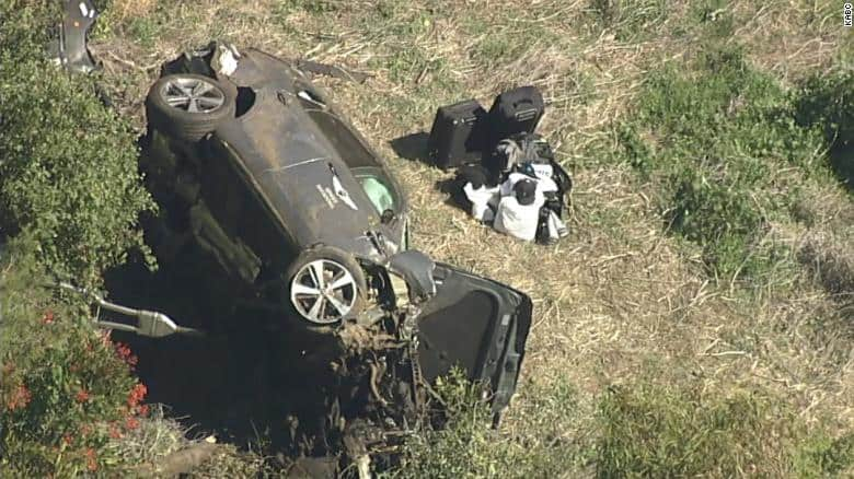 The vehicle Tiger Woods wrecked in his single-car accident was a 2021 Genesis GV80.