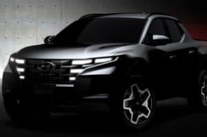 The 2022 Hyundai Santa Cruz pickup truck will begin production in the summer of 2021 in Alabama