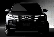 The 2022 Hyundai Santa Cruz pickup truck will have a unique exterior design.