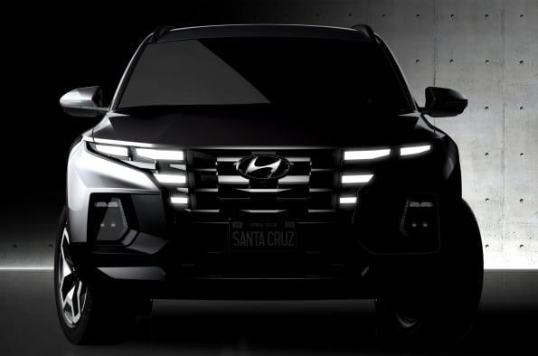 The 2022 Hyundai Santa Cruz pickup truck will have a unique exterior design.