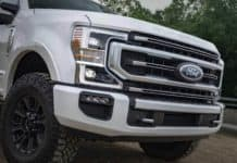 The 2022 Ford Super Duty Series of pickup trucks will be available in the summer of 2021.