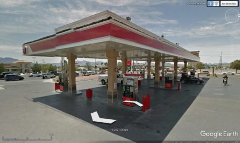 Look at fuel station before you arrive