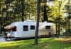 Airstream in the shade