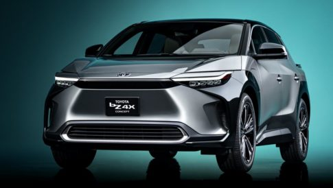 Toyota unveiled its BZ electric crossover concept at Shanghai Auto.