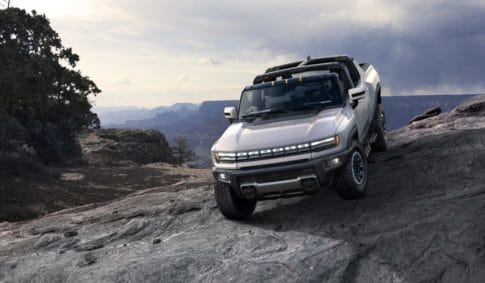 A pre-production of the new Hummer pickup truck.