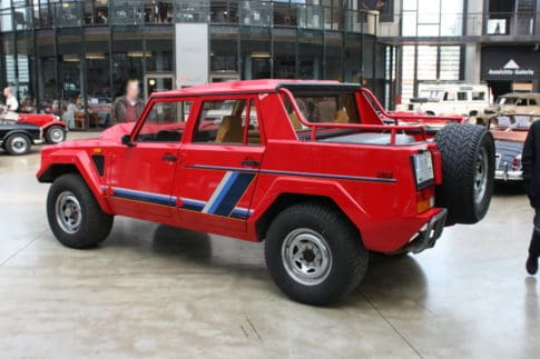 The Lamborghini LM002 pickup truck didn't last long and only 301 were made.