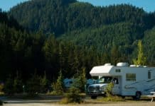 RV in a national park campground