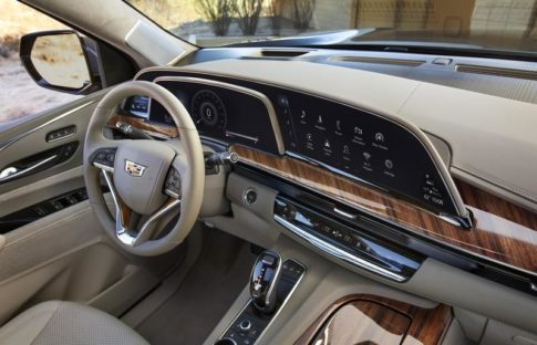 The interior of the 2021 Cadillac Escalade is beautifully designed.
