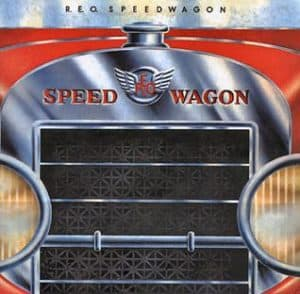 The cover of the rock band REO Speedwagon's first album featured an REO Speed Wagon.
