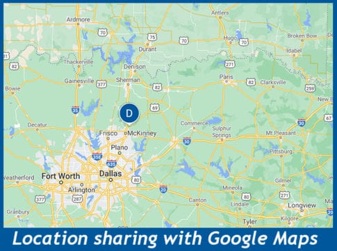 Location Sharing shows an icon for your friend's location in Google Maps