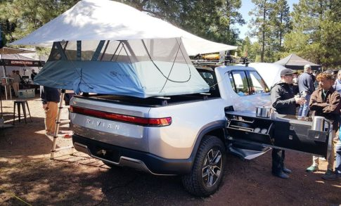 Rivian will offer a $5,000 kitch option package in its pending EV pickup truck.