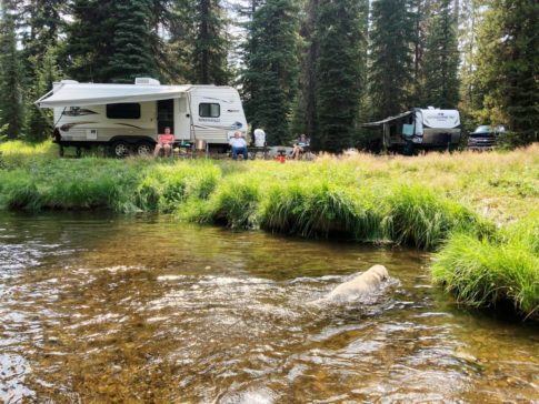 RV at camp