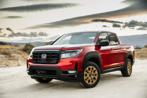 The 2021 Honda Ridgeline has a bling-oriented exterior package to attract younger buyers.