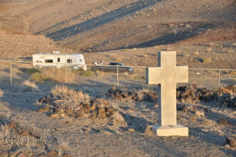 Camping in a Ghostly cemetery