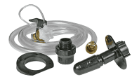 Thoroughly clean black water tanks with flusher system