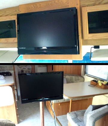 Move your TV for comfort