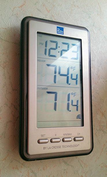 Use wireless thermometers to track important areas