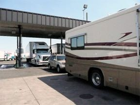 RV fueling etiquette at the truck stop